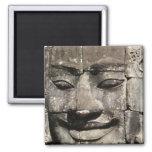 Templo de piedra de Bayon de la cara del Khmer…, C Imán Cuadrado