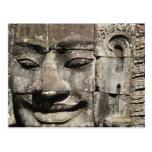 Templo de piedra de Bayon de la cara del Khmer…, C Postales