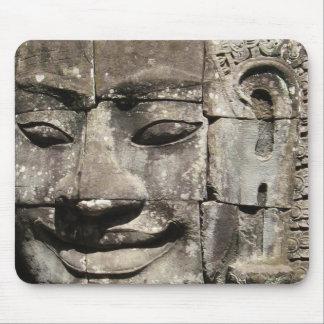 Templo de piedra de Bayon de la cara del Khmer…, Tapete De Ratón