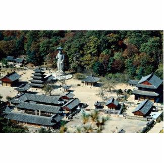 Templo de Popchusa y montaña de Songnisan, Kore de Fotoescultura Vertical
