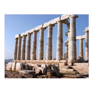 Templo de Poseidon, Sounion, Grecia Postal