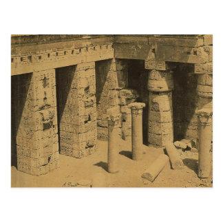 Templo de Ramses III. Egipto circa 1870 Postal