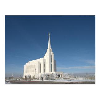 Templo de Rexburg LDS Tarjetas Postales