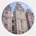 Templo de Salt Lake City Pegatina Redonda