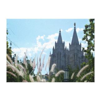 Templo de Salt Lake (pintado) Lienzo Envuelto Para Galerias