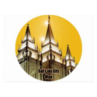 Templo de Salt Lake Utah Postal