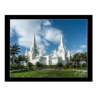 Templo de San Diego California LDS Tarjeta Postal