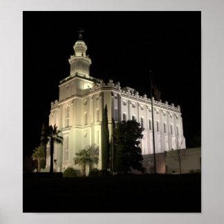 Templo de San Jorge, Utah LDS Poster