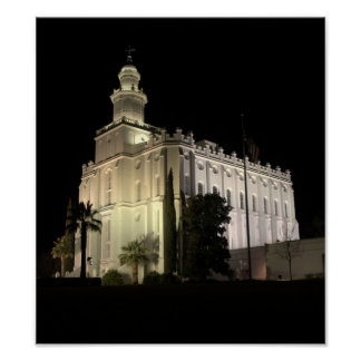 Templo de San Jorge, Utah LDS Póster