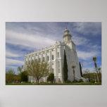 Templo de San Jorge, Utah LDS Posters