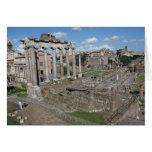 Templo de Saturn, foro Romanum Felicitación