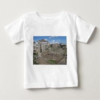 Templo de Saturn, foro Romanum Playera De Bebé
