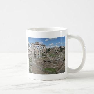 Templo de Saturn, foro Romanum Taza De Café