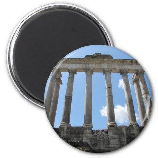 Templo de Saturn - siglo IV temprano A.C. Imán Redondo 5 Cm