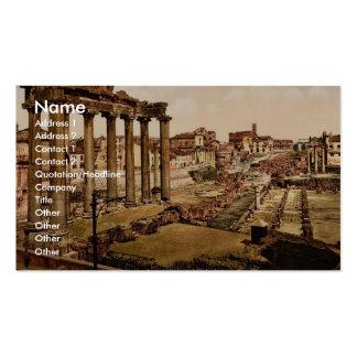 Templo de Saturn y arco triunfal del SE de Septimu Tarjeta De Negocio