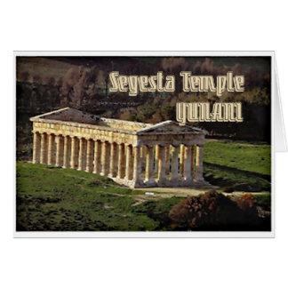 Templo de Segesta Tarjeta De Felicitación