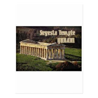 Templo de Segesta Tarjeta Postal