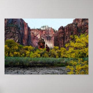 Templo de Sinawava, Zion en Utah, 12x8 Impresiones
