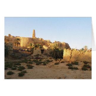 Templo de Siwa de Amun - Oracle de Siwa Tarjeta De Felicitación