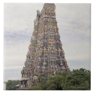 Templo de Sri Meenakshi Amman, Madurai, Tamil Nadu Azulejo Cuadrado Grande