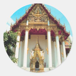 Templo de Tailandia Pegatina Redonda
