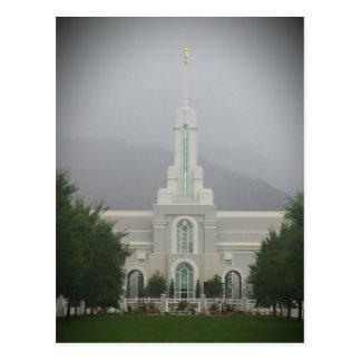 Templo de Timpanogos LDS del soporte, bifurcación Postales