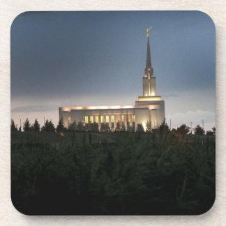 templo de Utah de los lds de la montaña del oquirr Posavasos De Bebidas