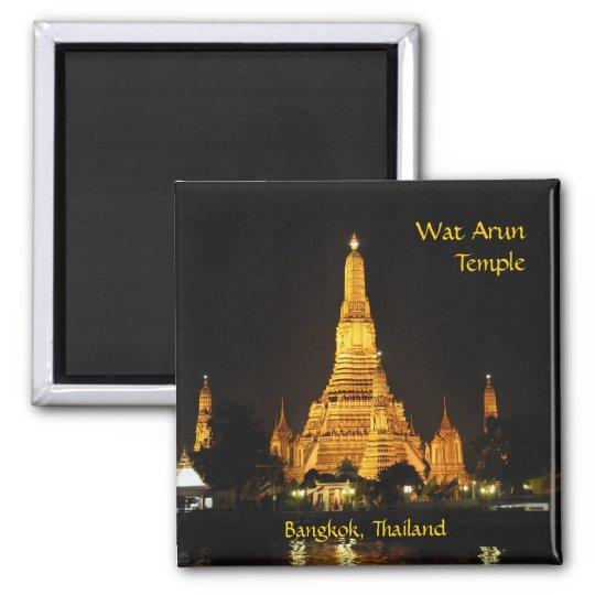 Templo de Wat Arun en Bangkok Imán Cuadrado