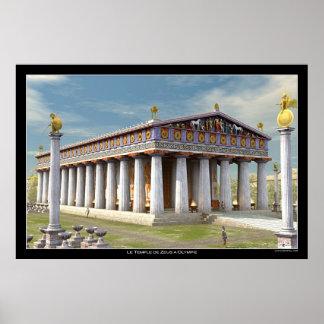 Templo de Zeus en Olympia Posters