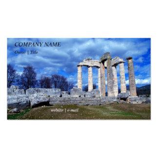 Templo de Zeus - Nemea Plantilla De Tarjeta De Negocio