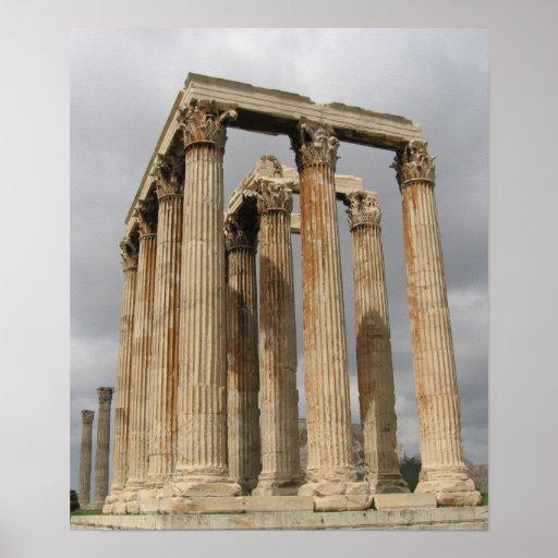 Templo de Zeus olímpico (Atenas) _01 Póster