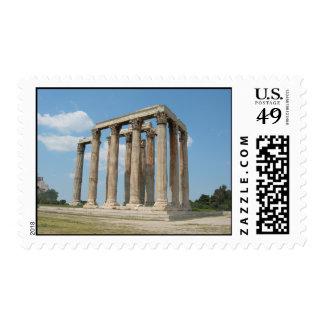 Templo de Zeus olímpico (Atenas) Estampilla