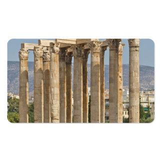 Templo de Zeus olímpico, Atenas, Grecia Plantilla De Tarjeta De Visita