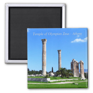 Templo de Zeus olímpico - Atenas Imán Cuadrado