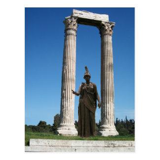 Templo de Zeus olímpico Atenas - puerta con la d Tarjetas Postales