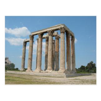Templo de Zeus olímpico Atenas Tarjeta Postal