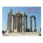 Templo de Zeus Tarjeta Postal