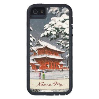 Templo de Zojoji en escena del invierno de Funda Para iPhone SE/5/5s