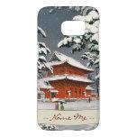 Templo de Zojoji en escena del invierno de Funda Samsung Galaxy S7