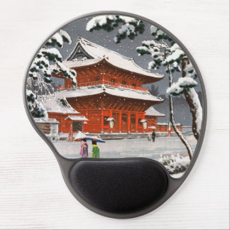 Templo de Zojoji en escena del invierno de Tsuchiy Alfombrillas Con Gel