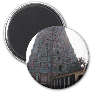 Templo del Adi Kumbeswarar Imán Redondo 5 Cm