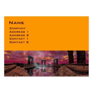 TEMPLO del AGUA, amarillo púrpura Tarjetas De Visita Grandes