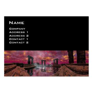 TEMPLO del AGUA, rojo, negro púrpura Tarjetas De Visita Grandes