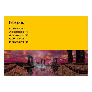 TEMPLO del amarillo púrpura del AGUA Tarjetas De Visita Grandes