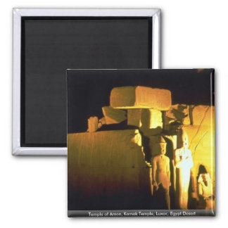 Templo del Amon templo de Karnak desierto de Lux Imanes De Nevera