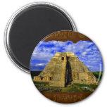 Templo del artículo maya del regalo del mago imanes de nevera