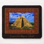 Templo del artículo maya del regalo del mago tapete de raton