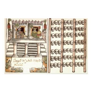 Templo del Azteca del estante del cráneo de Cojinete