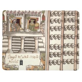 Templo del Azteca del estante del cráneo de Cuadernos Grapados