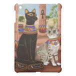 Templo del caso del iPad del gato de la diosa de l